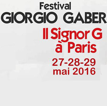 IL SIGNOR G à PARIS